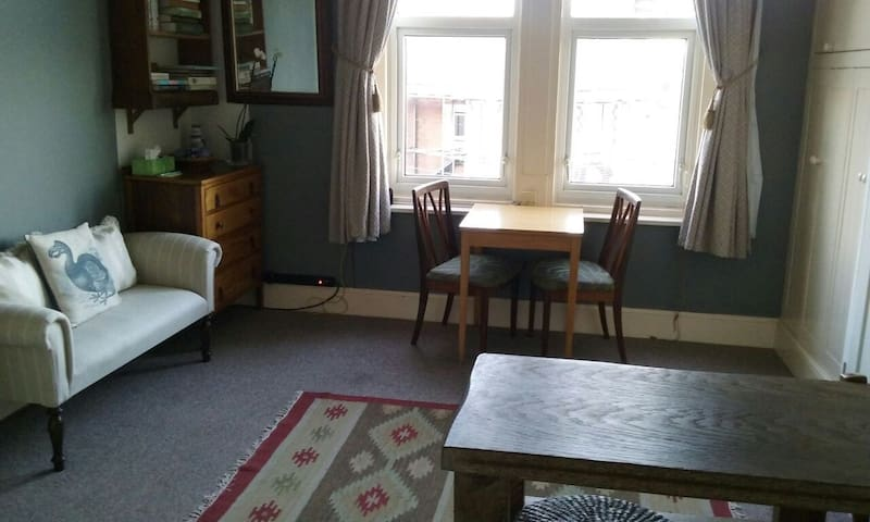 Clean, well-furnished, and well-organised! No TV, but free unlimited internet access!