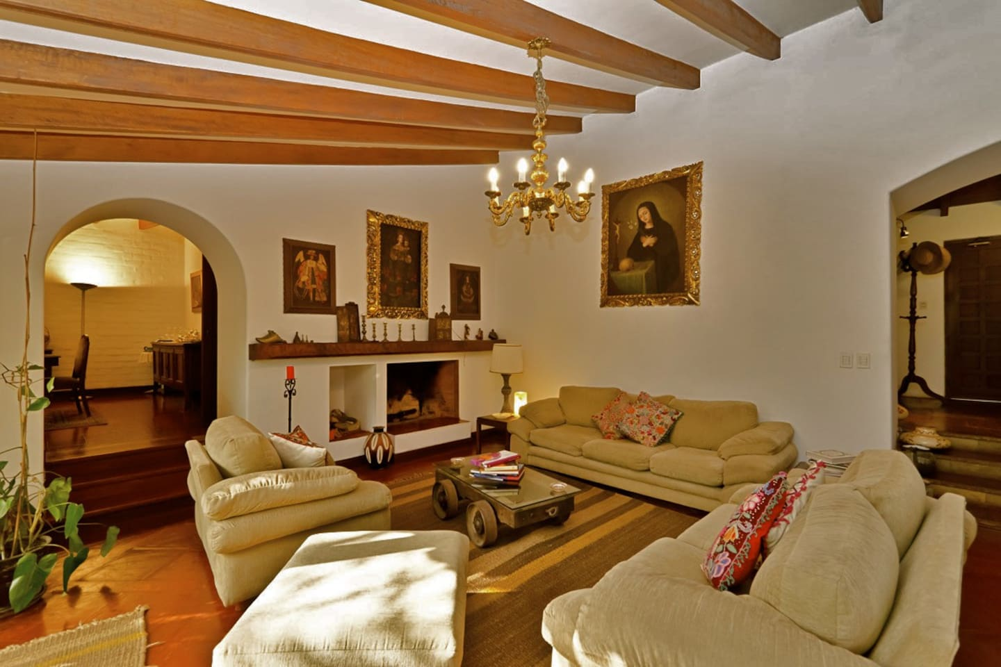 The central living room