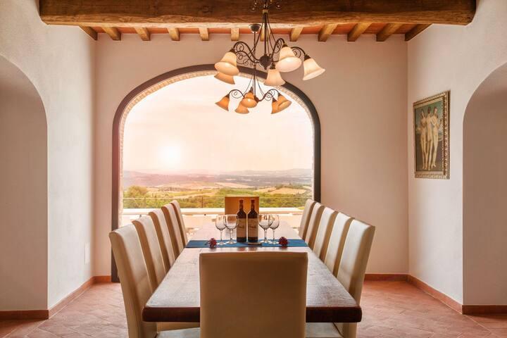 New Private Luxury Villa-Stunning Views-Chianti