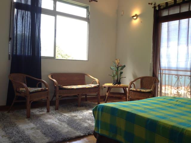 Chambre madras avec bacon privatif vue mer, et wc salle de bain