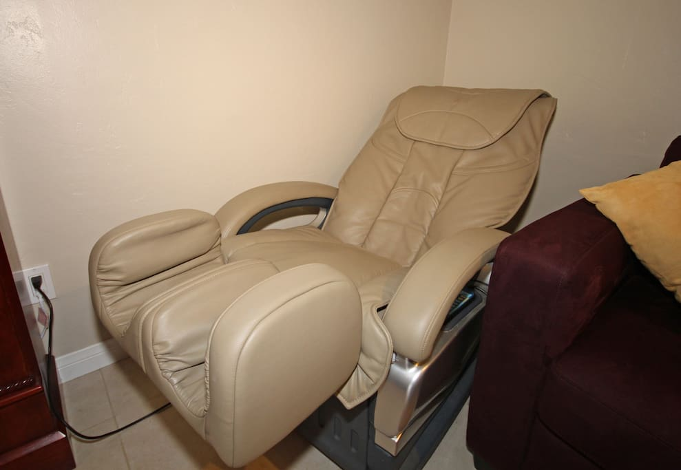 Ahhhh! FREE Massage Chair use for those tired legs!