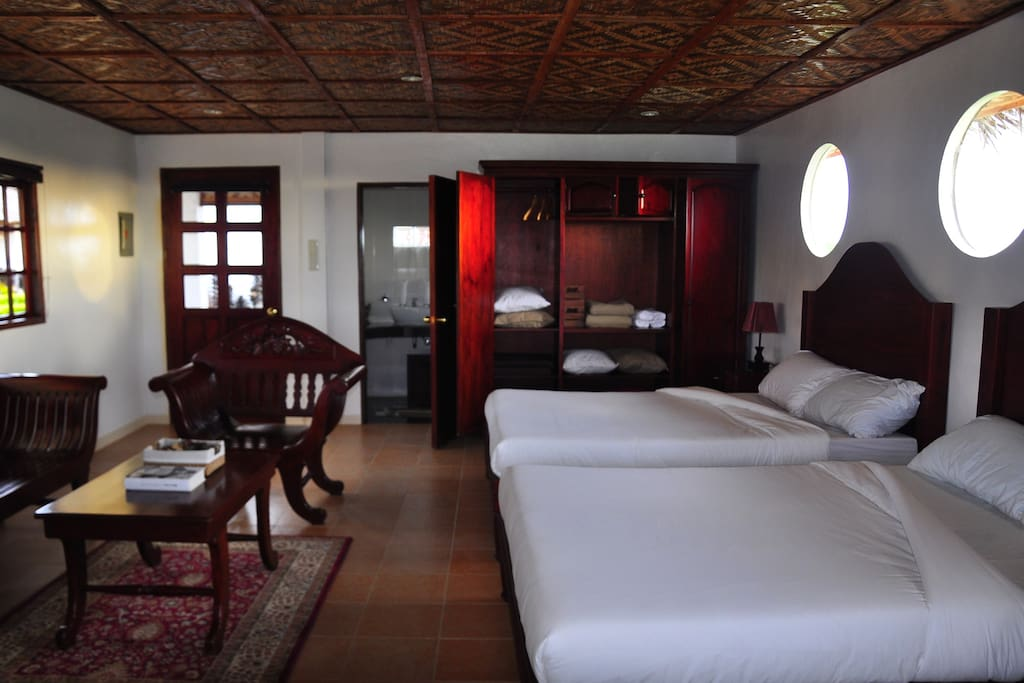 """Room 1 - """"Casita Azalea"""" sleeps up to 4 adults and has an ensuite bathroom and lounge area"""