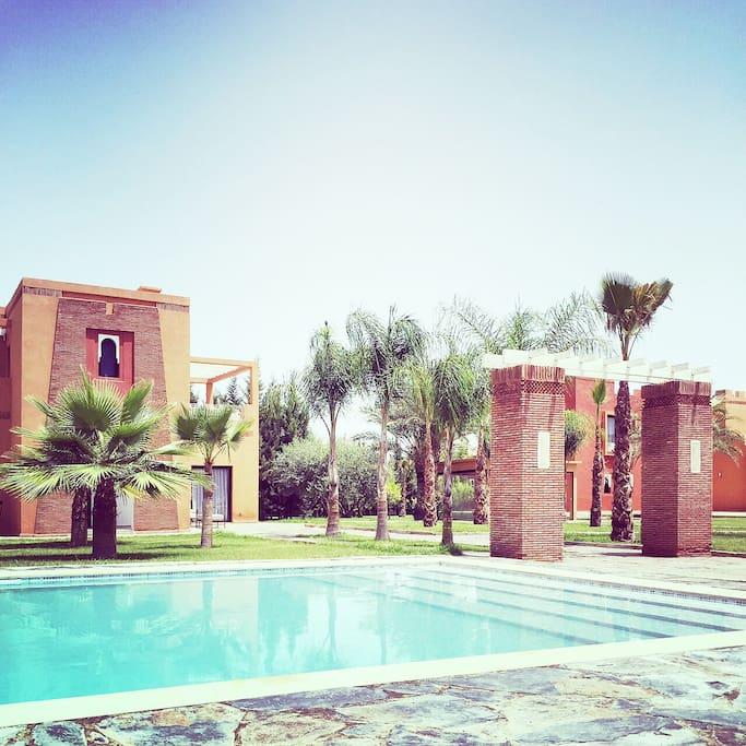 r sidence lina villas louer marrakech marrakech. Black Bedroom Furniture Sets. Home Design Ideas