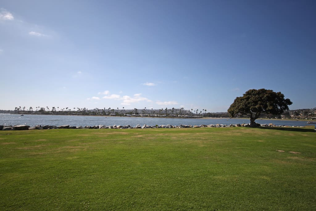 Can bike to Mission Bay Park just down the hill....