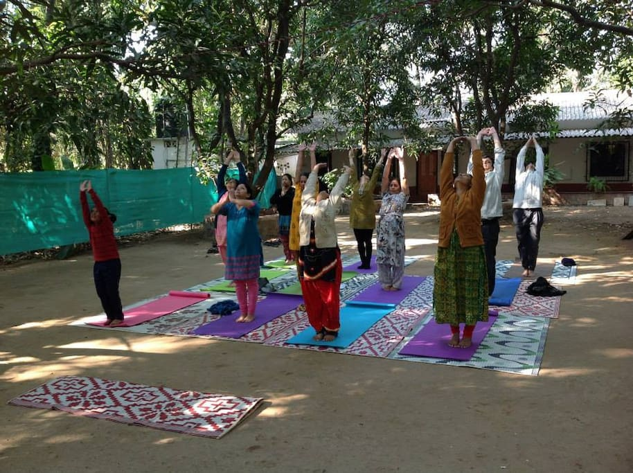 Yoga session during Detox camp