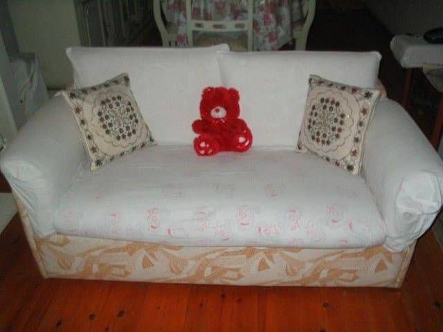 my warm sofa :D