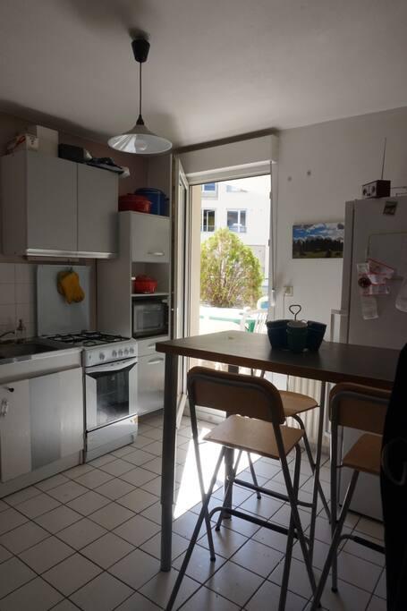 Appartement spacieux avec terrasse au calme appartements for Appartement terrasse lyon