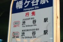 It is recommended to go by bus to Shibuya