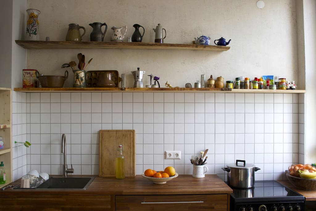 cooking area with everything you need