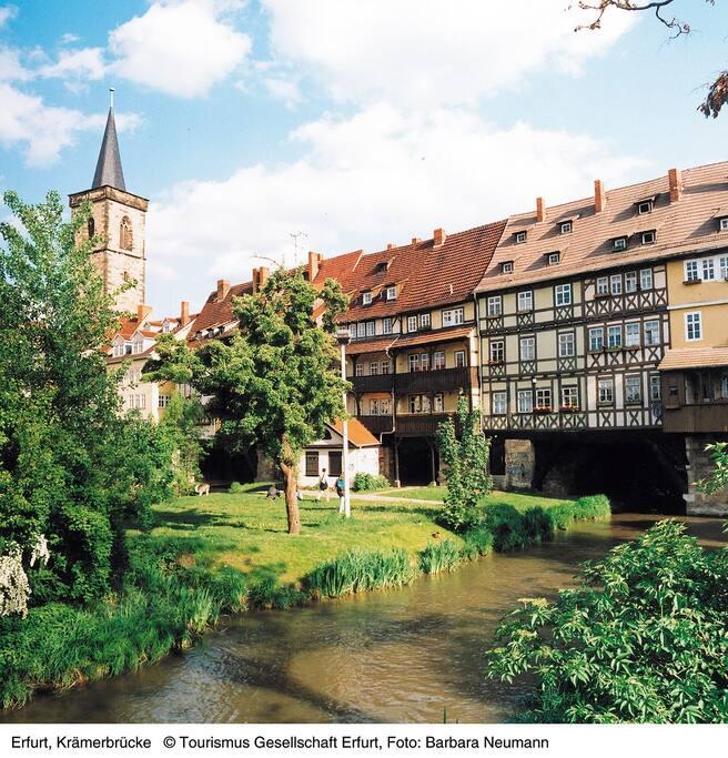 Die Krämer Brücke in Erfurt