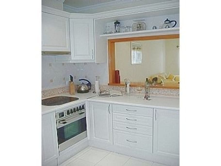 Kitchen is fully fitted and modern