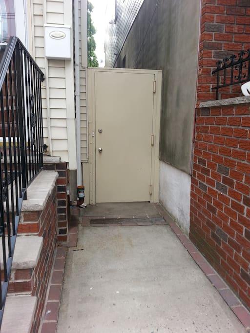 Side entrance to backyard.