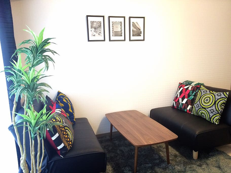 Our space is small cozy one-room apartment. But enough to rest and sleep for 2 people easily.