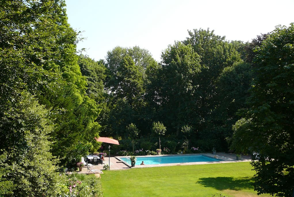 view from house at pool(70m2)