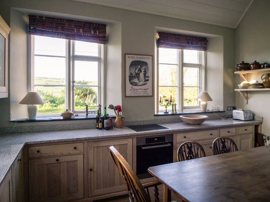 Kitchen, fitted with electric oven and AGA