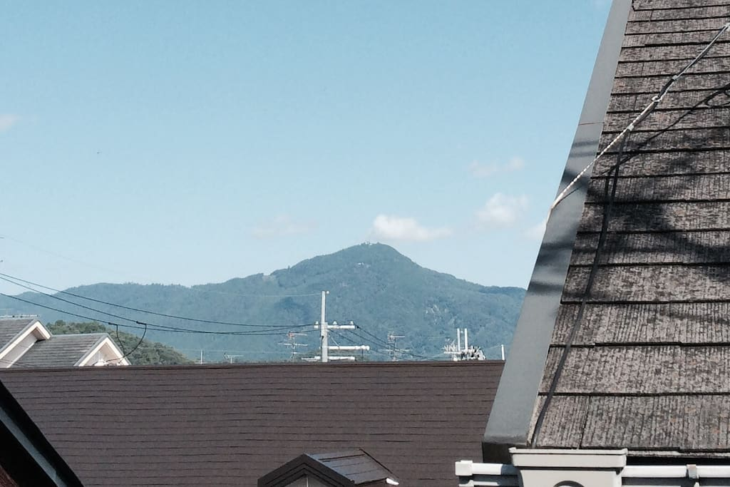 Veiwing of Mt.Hiei from balcony at this room.