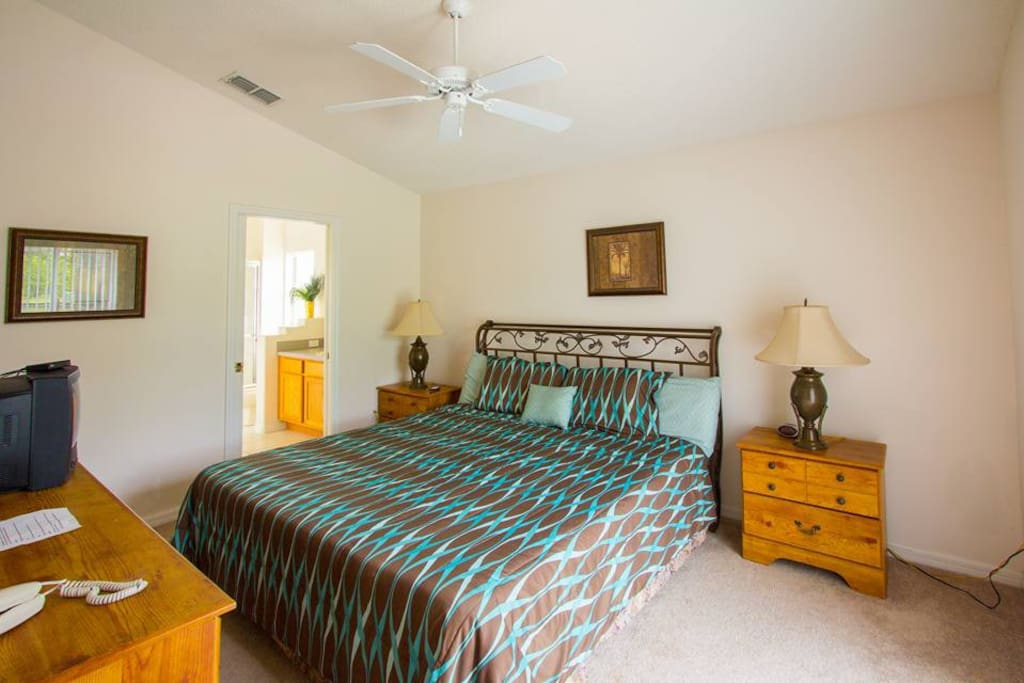 Master bedroom with private access to the pool