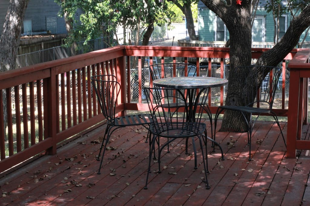 Large back deck, perfect for al fresco dining