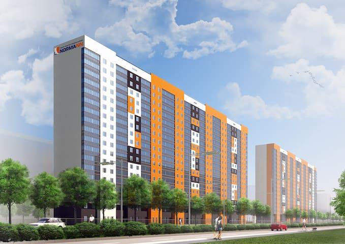 Современная квартира в живописном - Romashkovo - Apartamento