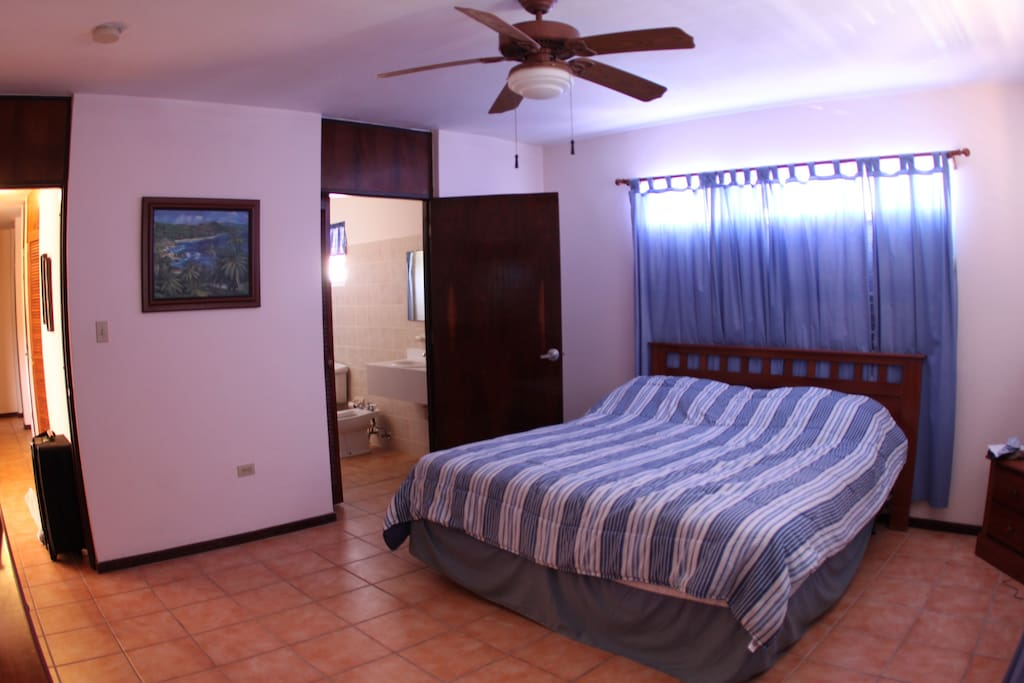 Master Bedroom, has private bath, walk in closet, burea, night stand, AC