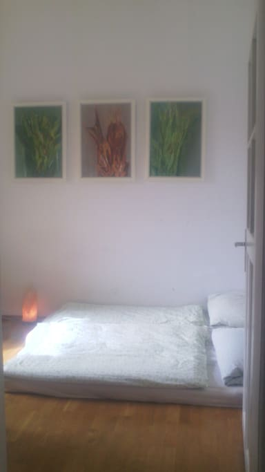 second bedroom with comfortable double mattress and balkony