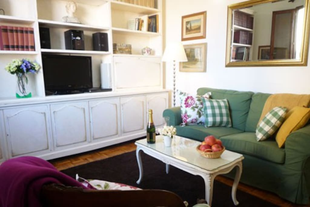 The Solare apartment is filled with charm, very cute furnishings.