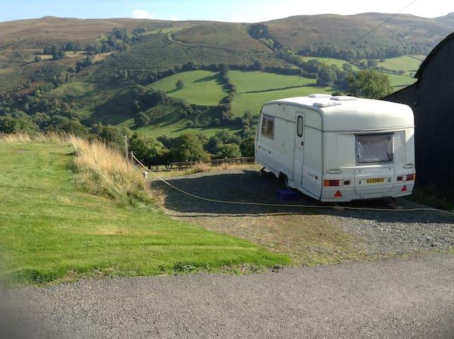Small caravan in the Welsh hills - a retreat!