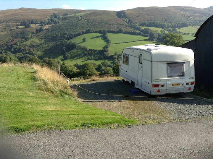 Small caravan in the Welsh hills - a retreat!