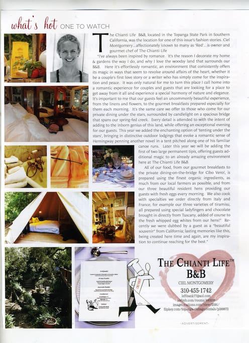 From California Wedding Day Magazine -Fall/Winter 2012 :)