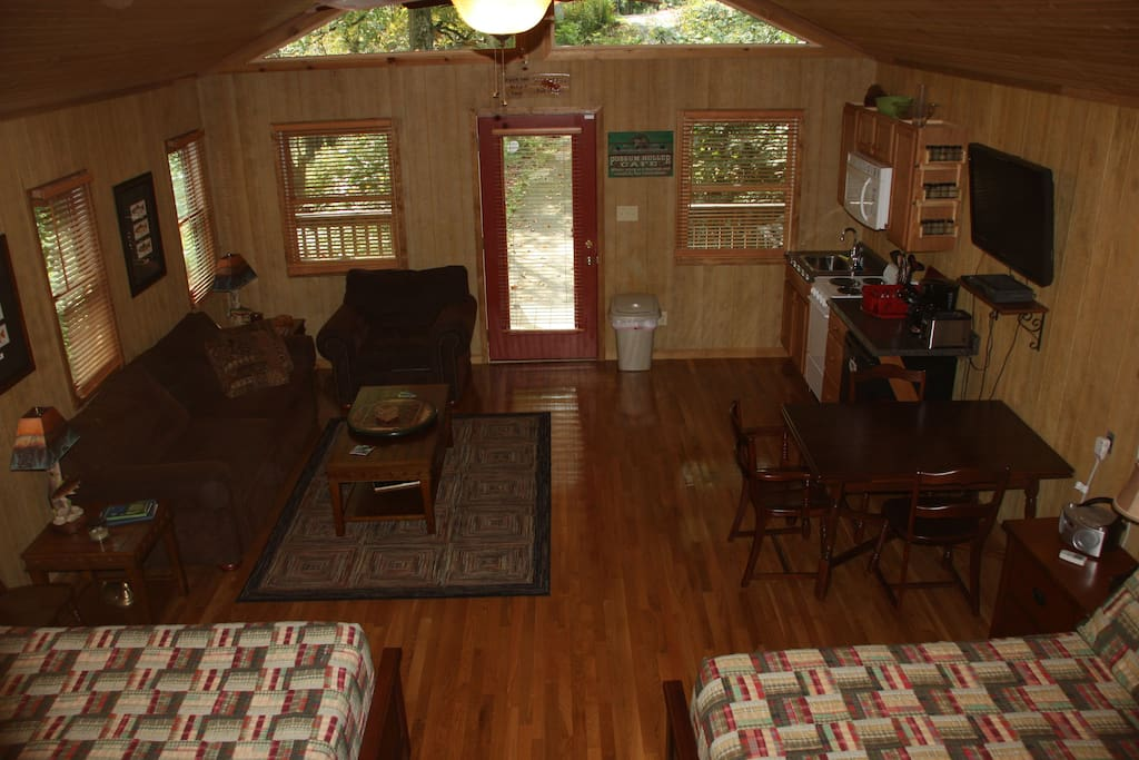 View of the cabin from the loft.