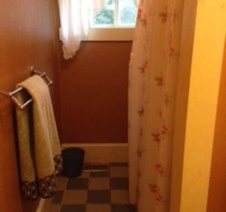 Personal bathroom with shower