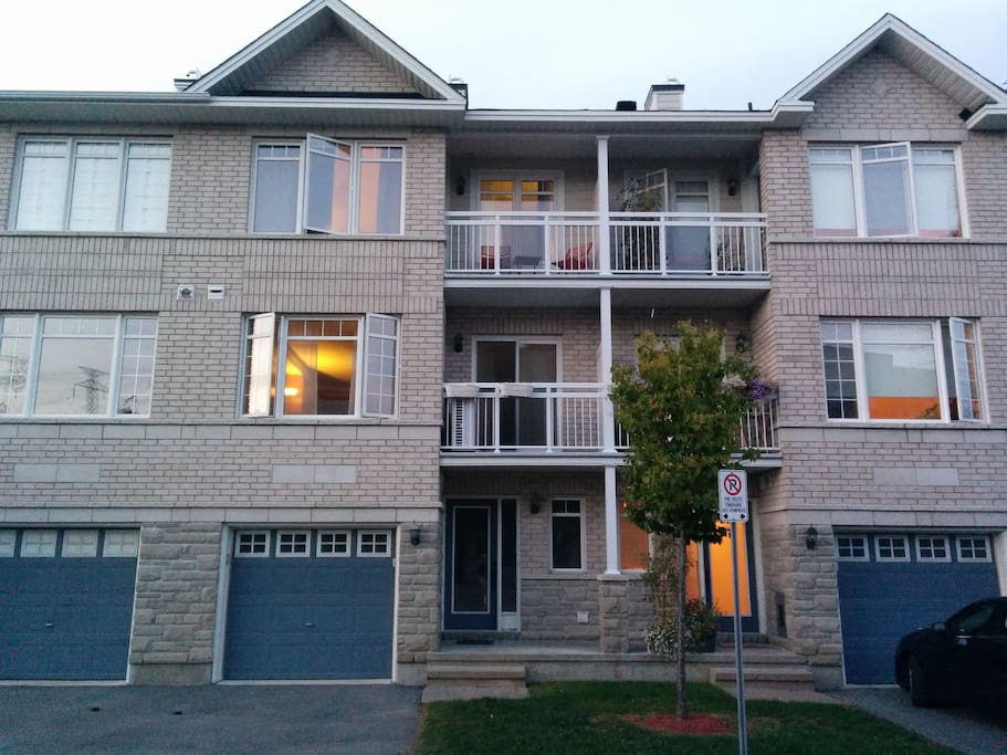 2 balconies and an indoor garage with direct access
