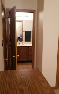 Bedroom w/private attchd full bath - Lemont - Hus