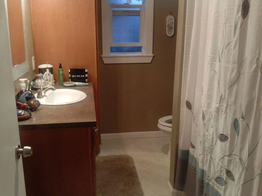 Shared upstairs bathroom.