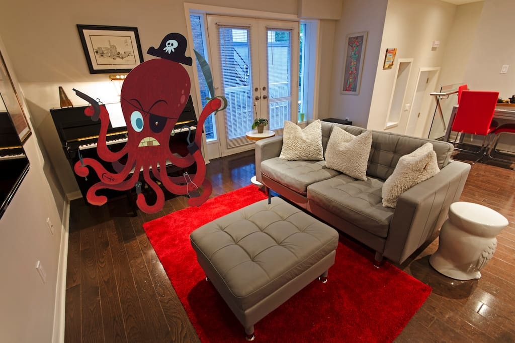 The kitchen and living room... octopus-pirate optional