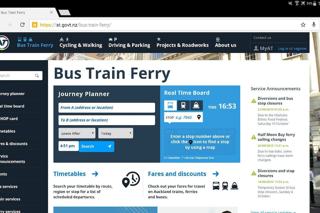Check out this website for journey planner, fares, real time board :)