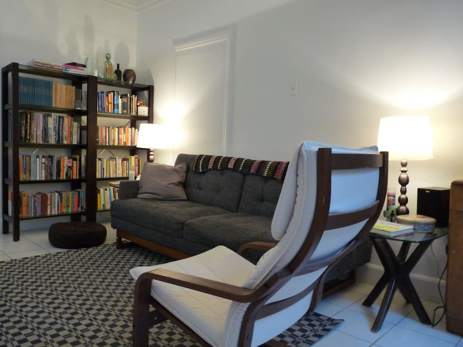 Another view of the living room. It's nice to have so much space in NYC.