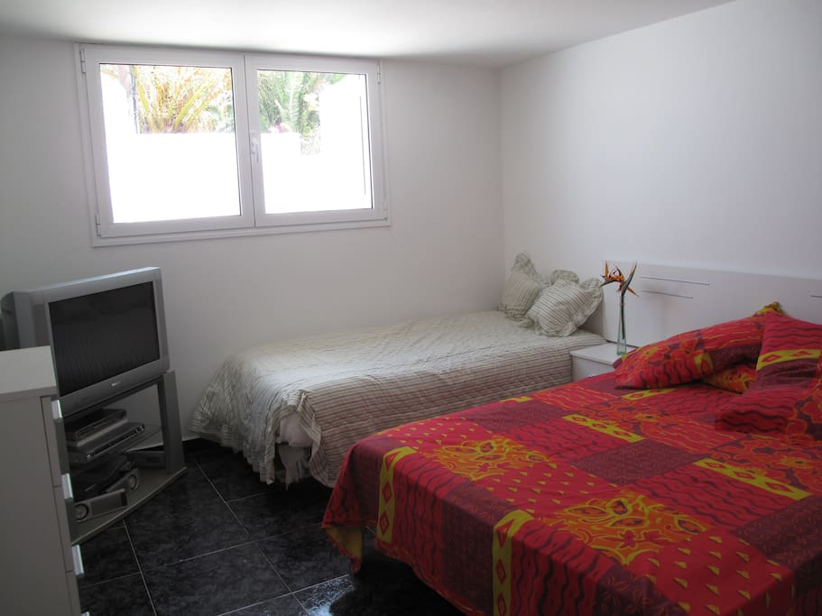 Triple bedroom with A/C