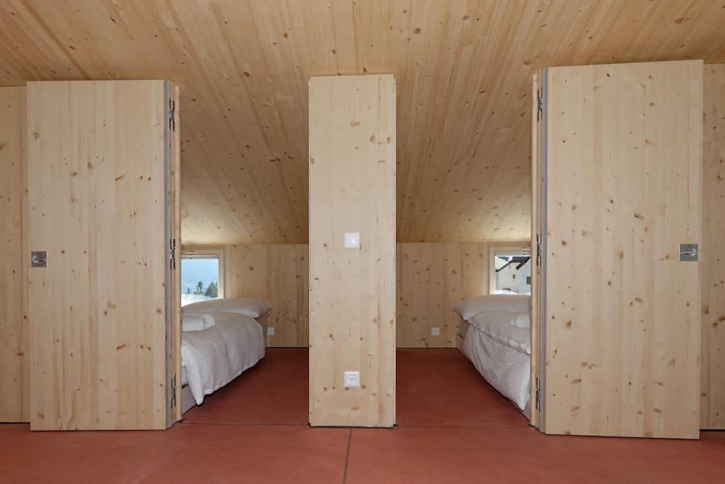 Schlaffzimmer mit kotroieret lüftung Loft 7 oder Loft 8