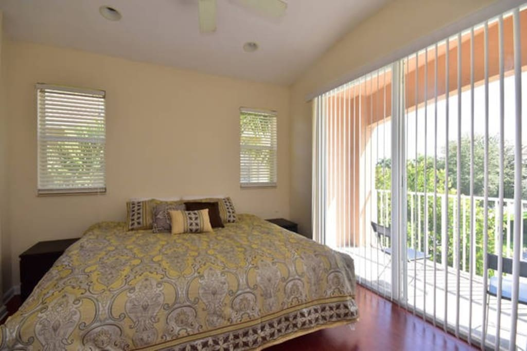 Master bedroom with 2 twin beds (can put together if needed like in photo). Enjoy spectacular view from your balcony