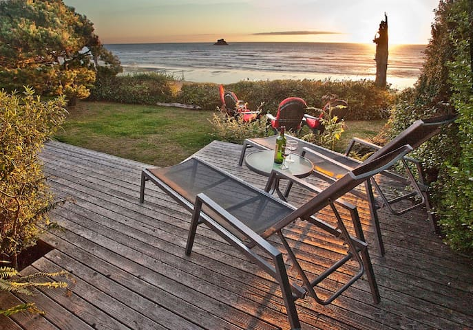 Gorgeous sunsets and oceanfront view, pet-friendly - Arch Cape - Apartmen