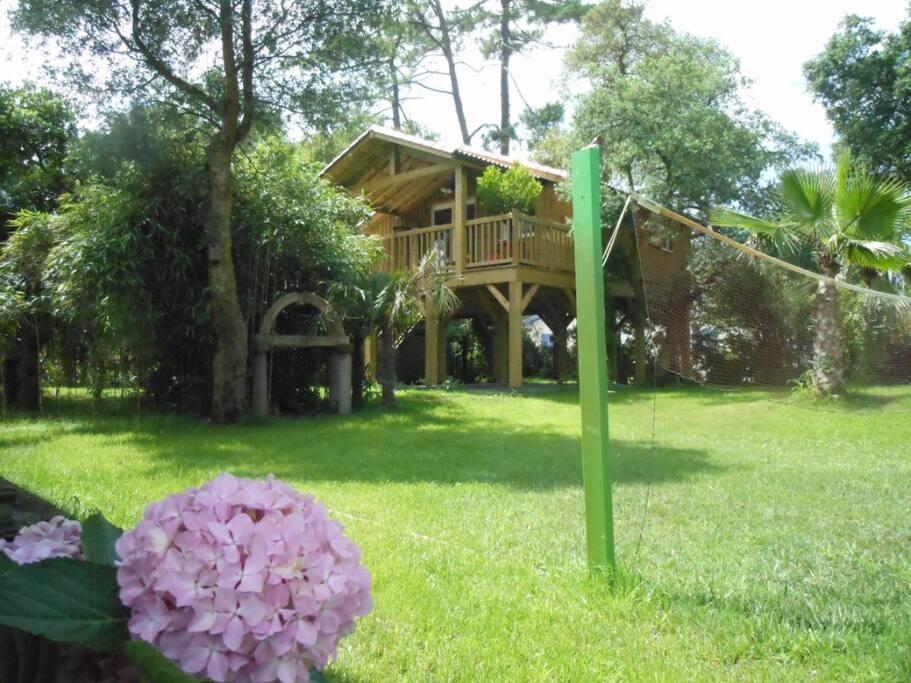Chalet confort 400m de l 39 oc an casas en el rbol en for Alquiler casa arbol
