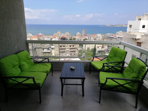 Luxurious apartment with Jounieh  bay Seaview.