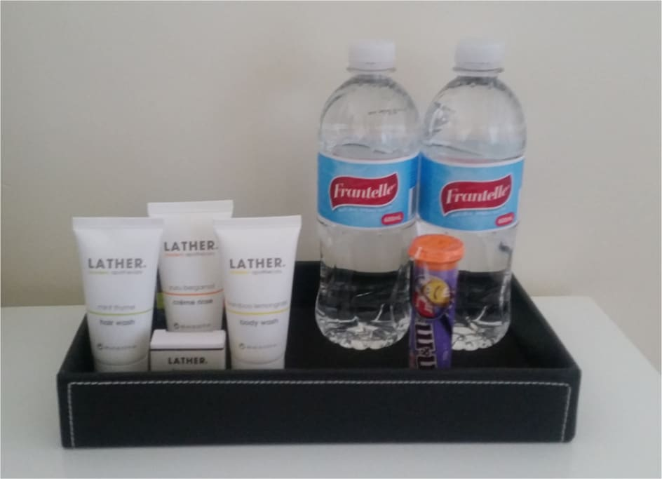Some helpful complimetary amenities to get you started during your stay in Melbourne!