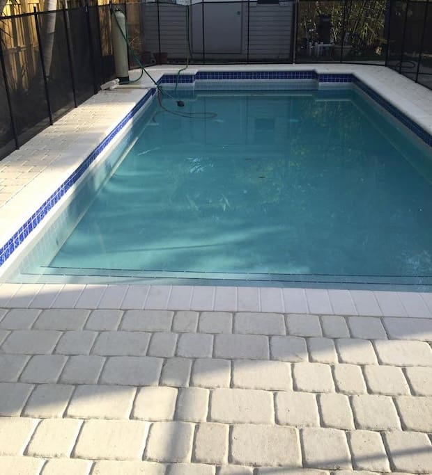 pool with child fence