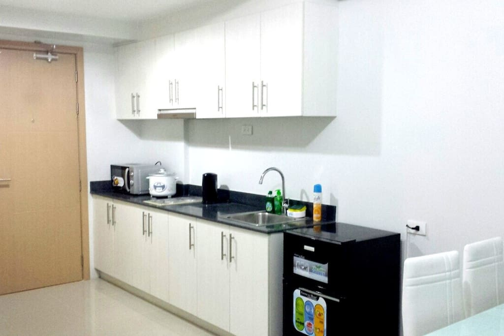 A fully equipped kitchen for you to prepare your own meals.