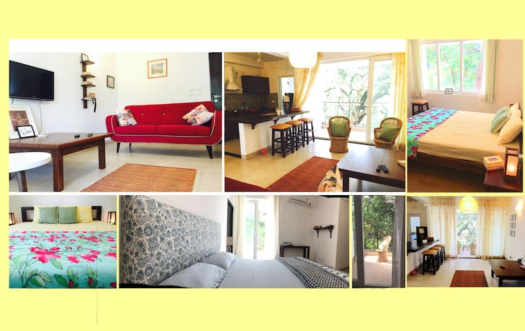 Siolim home with a green view - Siolim - Appartement