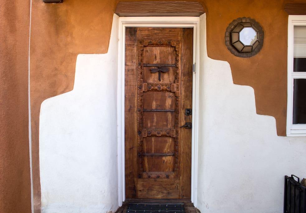 Beautiful carved wood front door
