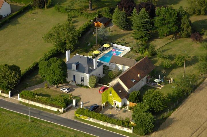 Confortable gîte de charme - Chambourg-sur-Indre - Huis