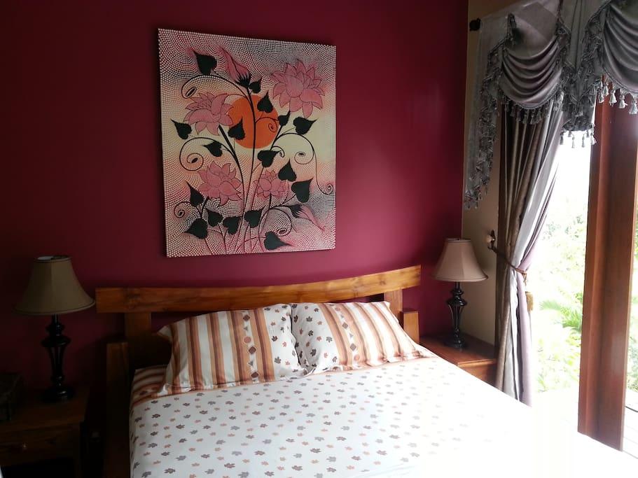 Second floor bedroom, over 60 meters square ; the whole floor just for you!  La chambre du deuxième étage, plus de 60 mètres carrée, tout un étage pour vous !
